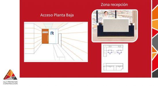 Zona de Recepción y Acceso Planta Baja