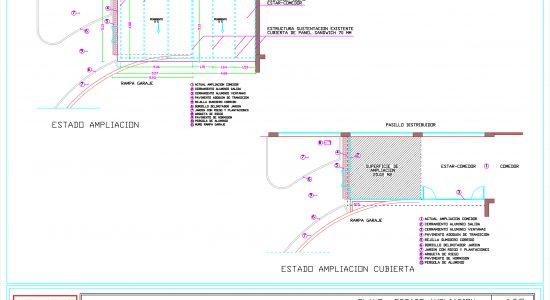 ampliación del salón comedor